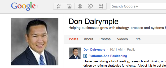 Google Plus Don Dalrymple Profile