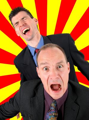 Businessmen Screaming
