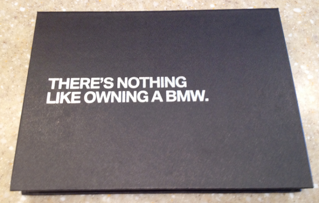 Nothing Like Owning A BMW