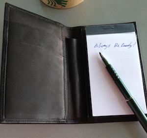 NoteTaker Wallet Always Ready