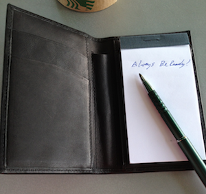 NoteTaker Wallet Always Ready
