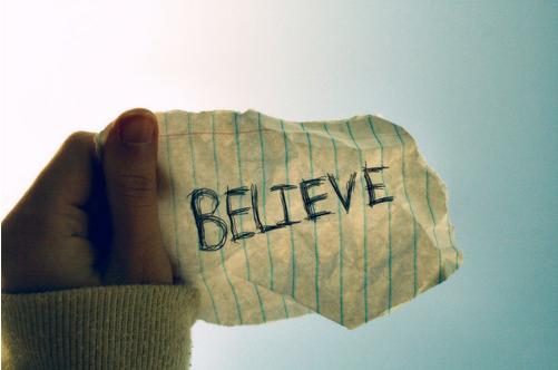 Paper Showing Belief
