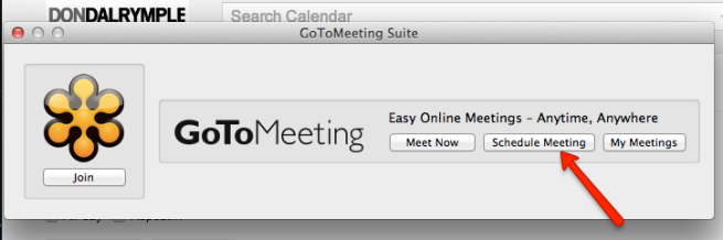 schedule gotomeeting