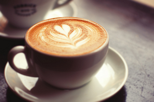 Capuccino with a design