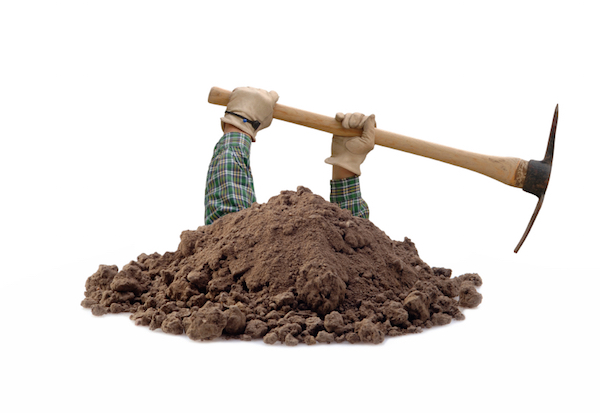 stop digging when something is not working
