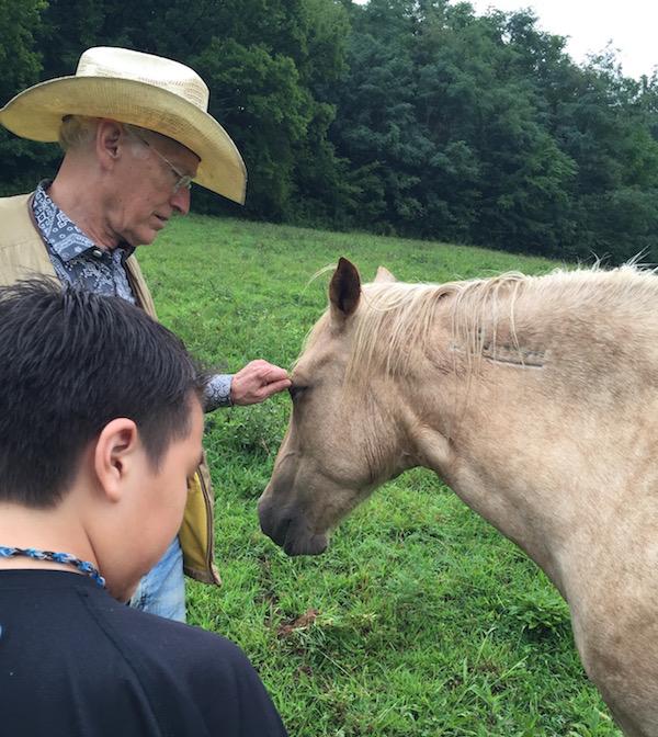 joe camp and his beautiful horse