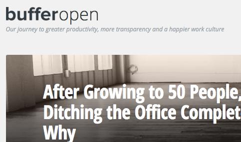 buffer closing their offices