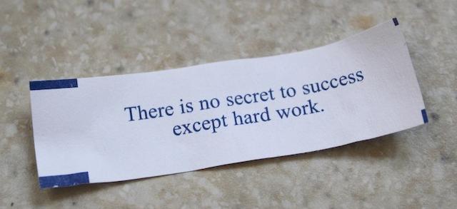 no secret to success