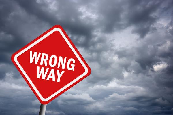 pivot when going wrong way