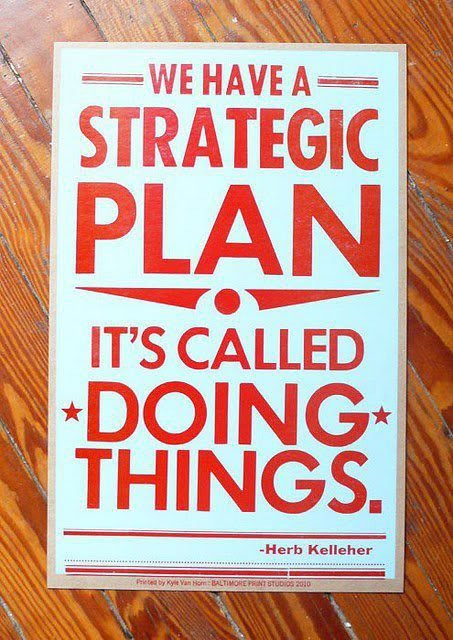 strategy of doing things